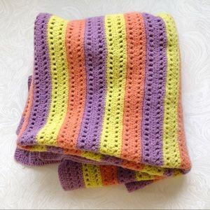 Vintage Handmade Crochet Blanket